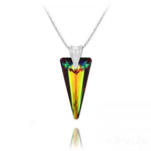 Spike 28mm Vermeil Necklace with Swarovski Crystal Vitrail Medium